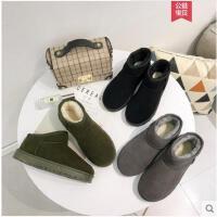 新款冬季保暖雪地靴短靴女靴防滑休闲平底青年女鞋加绒短筒