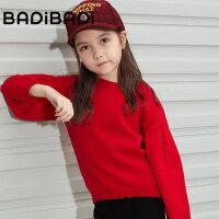 【2件3折价:49】巴拉巴拉旗下 巴帝潮流童装2018冬新款女童淑女风舒适毛衣