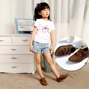 梓缇童鞋 儿童皮鞋 男童女童皮鞋软面皮 休闲网鞋亲子鞋 新款