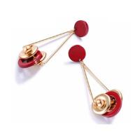 欧美复古几何长款金属风耳环个性气质多元素冷淡风圆环耳饰女