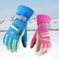 户外滑雪手套儿童冬保暖棉户外骑行登山保暖手套男女