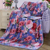 【暑期清凉季 爆款直降】【新品】富安娜家纺 毛毯子秋冬毯休闲毯午休毯 法兰绒毯 邂逅花开