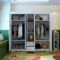 四门衣柜卧室简约现代经济型整体两门三门五组装家具大衣柜