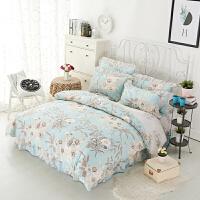 纯棉床上四件套可爱全棉1.51.8m床裙式公主风韩式韩版床罩四件套女童床上用品公主风公主床单女童床 乳白色 图片色--
