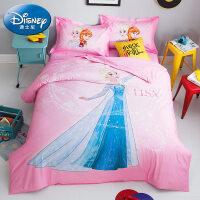 全棉卡通四件套冰雪奇��凵�被套床��和�三件套3D�棉床上用品
