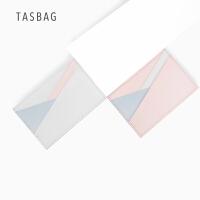 TASBAG真皮零钱包2018新款女式卡包 真皮个性迷你卡夹糖果色