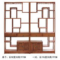 中式仿古家具博古架实木/展示架/古董架 榆木多宝格展柜 1.6-2米