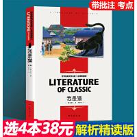 我是猫 名师精读版正版书 夏目漱石中文版原版初中生课外书九年级必读 初三语文课外阅读书籍下册中学文学长篇小说日本外国