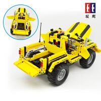 双鹰遥控积木遥控车儿童拼装模型车变形车男孩亲子益智DIY玩具C51003D