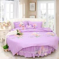圆床四件套圆形床4件套床品套件主题宾馆纯棉全棉 和风花语 特惠加厚
