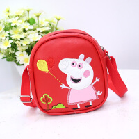 韩版儿童斜挎包卡通小猪佩奇儿童包包可爱女童单肩包婴幼小零钱包