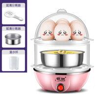 领锐 双层煮蛋器 蒸蛋器 多功能小型煮鸡蛋羹机自动断电迷你家用煮蛋器 送蒸盘 蛋清分离器 量杯