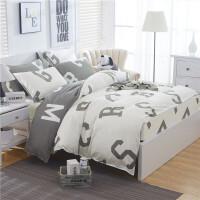 床上四件套全棉纯棉床单被套网红床笠款18m20m米床双人床上用品 乳白色 时间旅行- 白床笠 1.5m床被套200x2