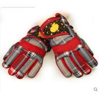手套 男女学生滑雪手套 防风保暖手套 防寒手套 儿童滑雪手套 男童女童保暖手套