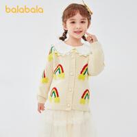 【3件4折:87.6】巴拉巴拉����毛衣女童��衫�_衫2020新款�和�上衣秋�b童�b洋�獬�