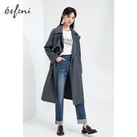 伊芙丽女风衣大衣2021年新款春季英伦风今年流行的炸街长款外套女