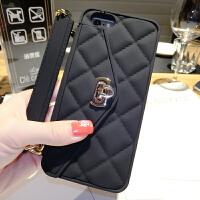 创意奢华iphone7手机壳挂绳带链条6splus软胶壳套零钱包斜跨女i8