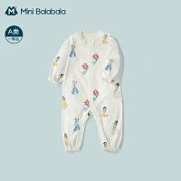 迷你巴拉巴拉女宝宝连体衣2021春季甜美蕾丝哈衣