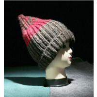 男女帽 保暖帽 毛钱帽 MA-9 情侣拼色卷边针织帽毛线帽
