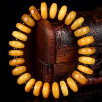 蜜蜡满蜡算盘珠手串隔黑檀 直径14mm