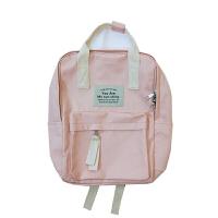 书包女韩版 高中学生帆布包少女小清新森系双肩包