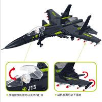 儿童益智力拼装玩具7星钻积木男孩子8战斗机飞机模型6-12岁9
