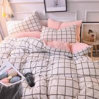 水洗棉绒四件套床单被套床笠1.8m床上用品单人学生被子宿舍