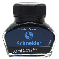 德国进口施耐德(Schneider) 黑色墨水瓶装6901欧标适用非碳素不堵笔墨水33ml瓶装钢笔补充液钢笔配件 当当