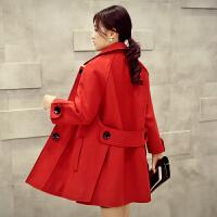 2018秋冬新款韩版中长款羊毛呢外套修身显瘦呢子大衣长袖风衣女装