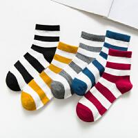 俞兆林5双装袜子女纯棉中筒袜韩版学院风学生四季款保暖女士棉袜