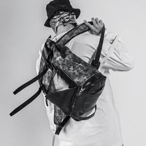 【支持礼品卡支付】DRACONITE潮牌学院风背包男印花学生旅行双肩包11657