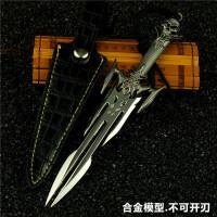 穿越火线武器模型CF英雄武器玩具鲨鱼刀具金属仿真未开刃带皮套