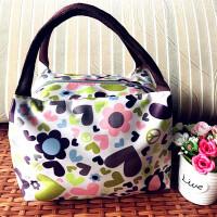 【手提包】防水手提便当包妈咪包女包午餐包饭盒袋小布包包手拎包