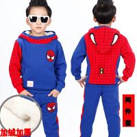 2018新款童装男童春秋装套装韩版宝宝长袖运动儿童超人卫衣两件套