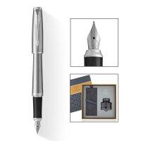 PARKER 派克 2017都市金属银白夹墨水笔+新款墨水礼盒
