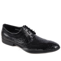 DAZED CONFUSED 潮牌春夏商务正装皮鞋 英伦雕花鳄鱼纹男鞋 休闲鞋男单鞋尖头潮