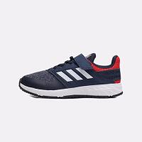 【4折�r:159.6元】阿迪�_斯(adidas)童鞋新款�和��\�有�男女中童透�饽��g�N跑步鞋F34122 深�{色