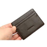 卡包男士卡片包迷你小卡夹名片夹女简约证件套银行卡套 黑色 单面卡位
