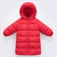 新款季儿童中长款羽绒服童装男女童宝宝加厚保暖婴幼儿连帽外套