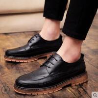 户外新品男士商务休闲皮鞋男韩版英伦鞋布洛克男鞋网红时尚新款鞋子男潮鞋