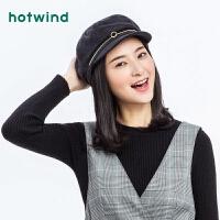 热风2018年秋季新款女士时尚军帽P003W8304