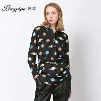 BAGPIPE/风笛2017新款春季女打底衫雪纺上衣女士雪纺衫长袖衬衣潮