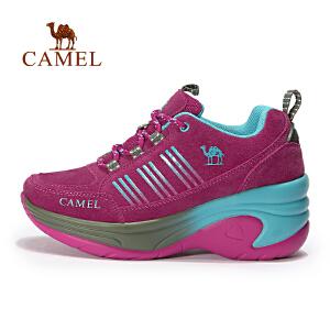 【每满200减100】camel骆驼户外女款徒步鞋 耐磨反绒皮女士户外鞋