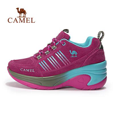 camel骆驼户外女款徒步鞋 耐磨反绒皮女士户外鞋官方正品,七天无理由退换货,59元起包邮