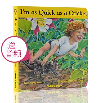 英文原版绘本 I'm as Quick as a Cricket 纸板书 廖彩杏书单第50本 亲子互动学习 图画故事书 音频