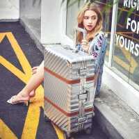 铝框拉杆箱万向轮20/24/29寸旅行箱行李硬皮箱复古学生男女登机箱