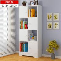简易书架落地组合书柜简约现代学生储物柜子创意书橱置物架
