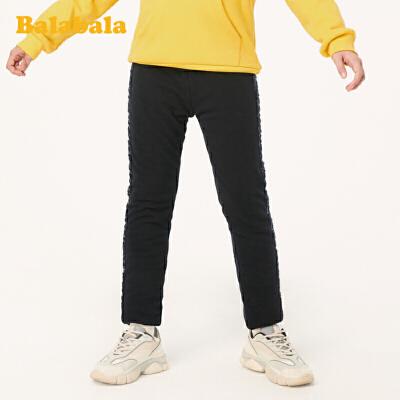 【3件3折价:71.7】巴拉巴拉童装儿童裤子2019新款秋冬女童加绒打底裤中大童时尚甜美