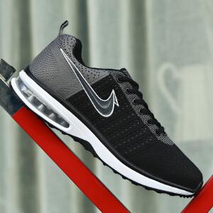 新款秋季网鞋男士运动休闲鞋透气网面跑步鞋减震气垫鞋子男鞋