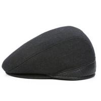 男冬季鸭舌帽中老年男士冬天帽子老年人前进帽护耳